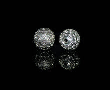 Load image into Gallery viewer, Two 13mm Sterling Silver Bali Granulation Beads