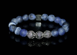 Matte Sodalite and Sterling Silver
