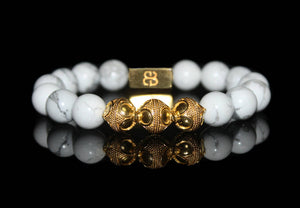 White Howlite and Gold
