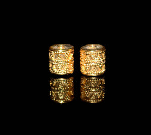 Two 10mm 22K Gold Vermeil Drum Beads