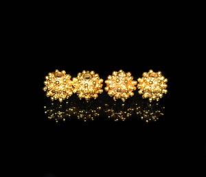 Four x 8mm 22K Gold Vermeil Beads
