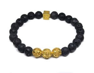 Lava Stone and Gold