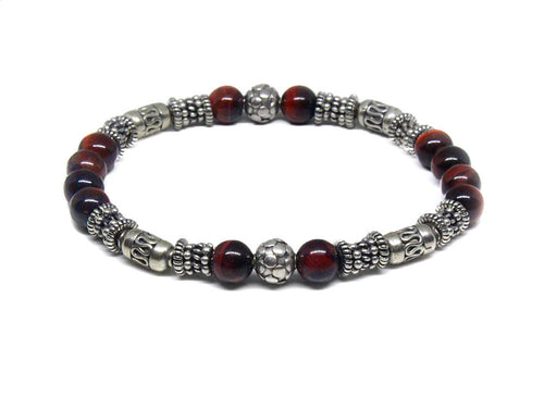 Sterling Silver and Red Tiger's Eye