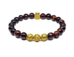 Red Tiger's Eye and Gold