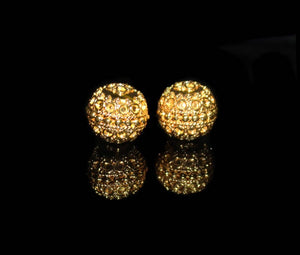 Two 13mm Gold Vermeil Beads
