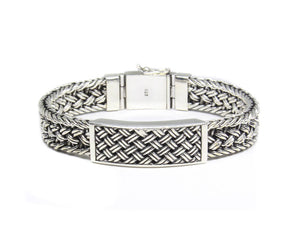 Solid Sterling Silver Weave