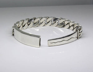 FREE ENGRAVING Heavy Duty Sterling Silver Curb