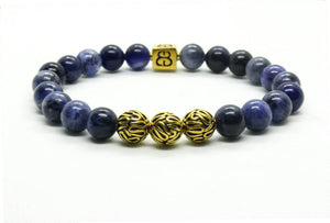 Sodalite and Gold