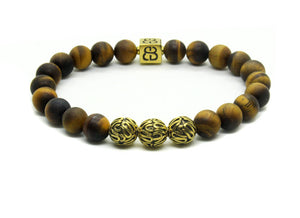 Matte Tiger's Eye and Gold Vermeil