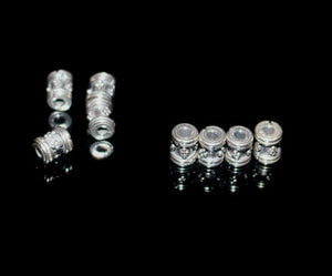 Lof of 8 x 6mm Sterling Silver Spacer Beads