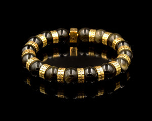 Golden Obsidian and Gold Vermeil