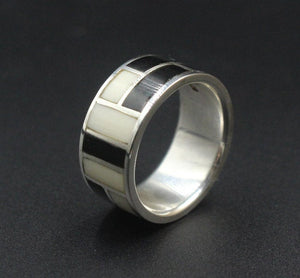 Sterling Silver and Horn Ring
