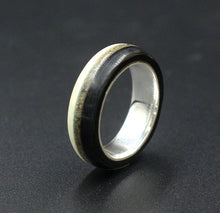 Load image into Gallery viewer, Sterling Silver Triple Inlay Ring