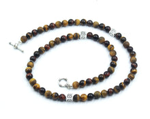 Load image into Gallery viewer, Mixed Tiger's Eye and Sterling Silver