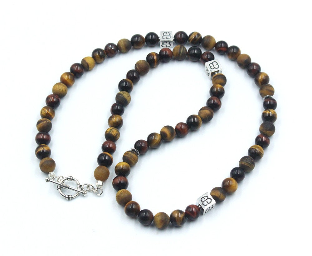 Mixed Tiger's Eye and Sterling Silver