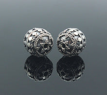 Load image into Gallery viewer, Two 12mm Handmade Sterling Silver Beads