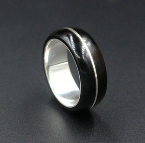 Sterling Silver and Black Bufalo Horn