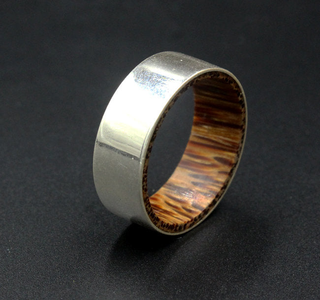 Sterling Silver and Coconut Wood