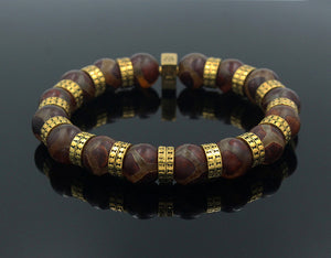 Tibetan Agate and Gold
