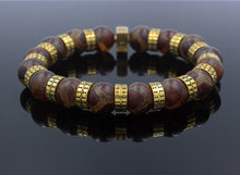 Load image into Gallery viewer, Tibetan Agate and Gold