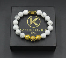 Load image into Gallery viewer, White Howlite and Gold