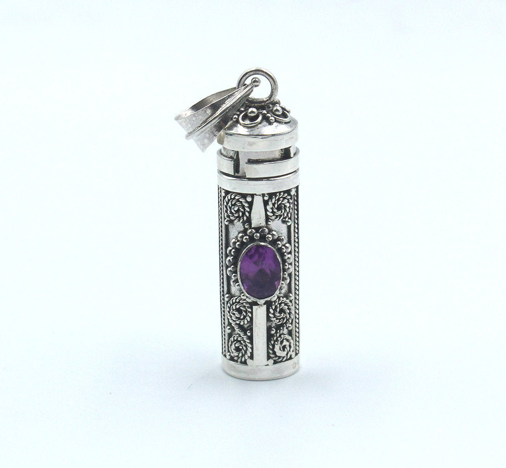 Sterling Silver and Amethyst