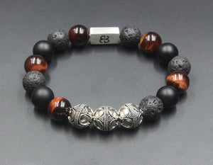 Onyx, Lava, and Red Tiger's Eye