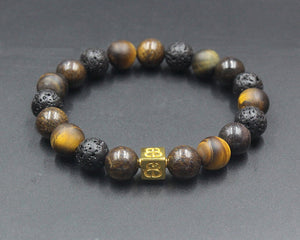 Bronzite, Tiger's Eye, and Lava