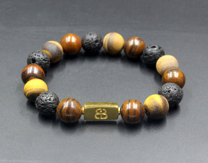 Tiger Iron, Lava, and Matte Tiger's Eye
