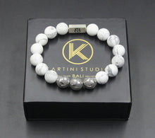 Load image into Gallery viewer, Matte White Howlite and Silver