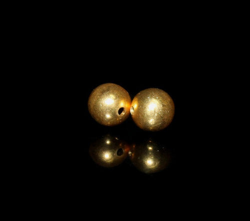 Two x 10mm 22 Karat Gold Vermeil Beads