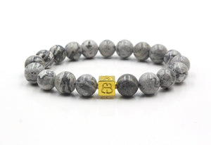 Grey Jasper and Gold