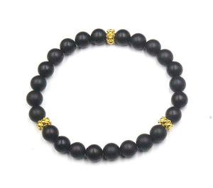 Black Onyx and Gold Vermeil
