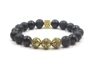 Black Onyx, Lava, and Gold