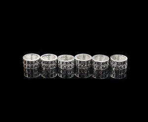 "Six 10mm Sterling Silver ""Dots"" Spacer Beads"
