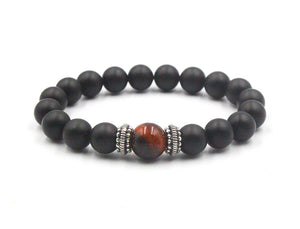 Onyx, Red Tiger's Eye, and Silver