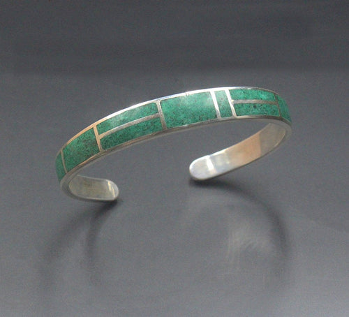 Malachite and  Sterling Silver Cuff
