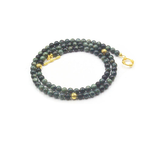 Jade and 22K Gold Vermeil