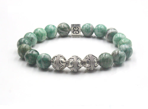 Qinghai Jade and Sterling Silver