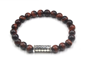 Red Tiger's Eye Sterling Silver