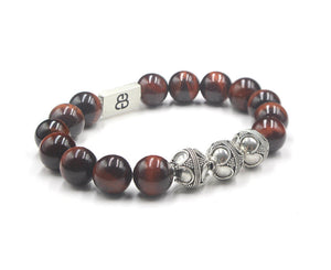 Red Tiger's Eye and Silver