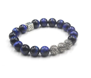 Blue Tiger's Eye and Silver
