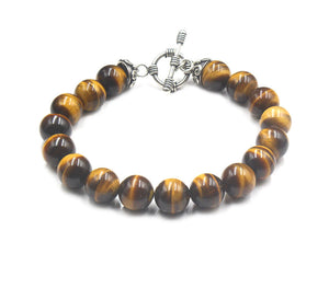 Tiger's Eye and Strerling Silver