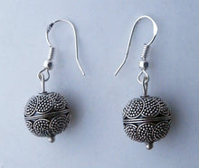 Load image into Gallery viewer, Sterling Silver Bali Bead Dangles