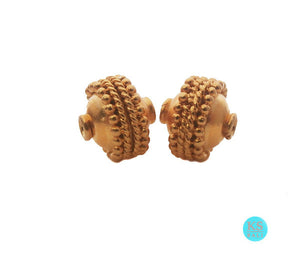 Two 9mm 22 carat Gold Vermeil Beads