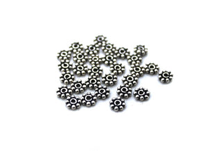 50pcs Sterling Silver Bali Daisy Spacers, 3mm, 4mm, 5mm, 6mm
