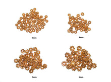 Load image into Gallery viewer, 50pcs  Gold Vermeil Bali Daisy Spacers, 3mm,4mm, 5mm, 6mm