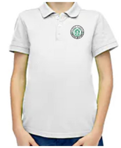 Toddler White Short Sleeve Polo