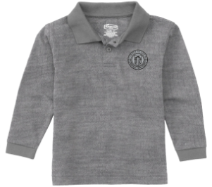 Youth Grey Long Sleeve Polo