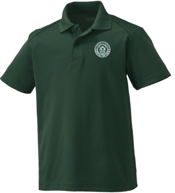 Youth Forest Green Performance Short Sleeve Polo